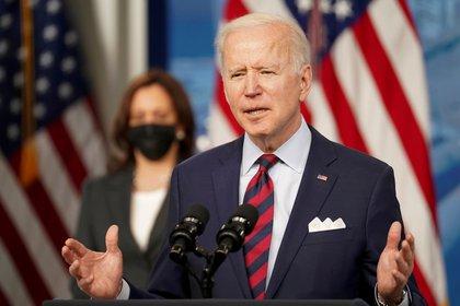Joe Biden reconoce a Juan Guaidó como presidente legítimo de Venezuela (REUTERS/Kevin Lamarque)