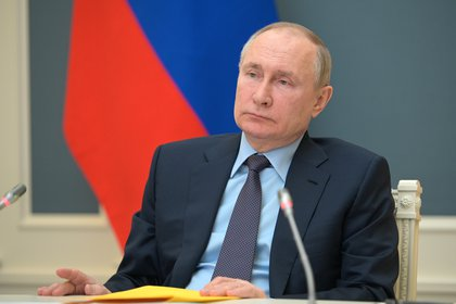 El presidente ruso Vladimir Putin durante una conferencia el 14 de abril (Sputnik/Alexei Druzhinin/Kremlin via REUTERS)