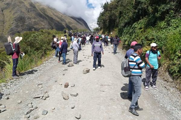 Bloqueo a los Yungas Foto: ADEPCOCA