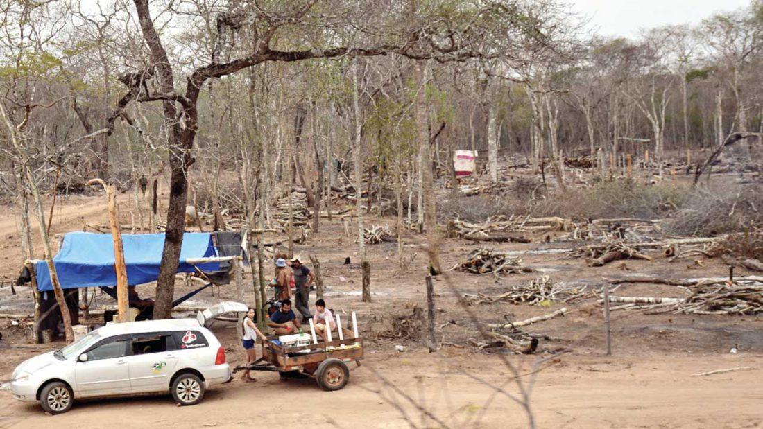 Tierras en San José de Chiquitos donde hay grupos de asentados. DICO SOLÍS