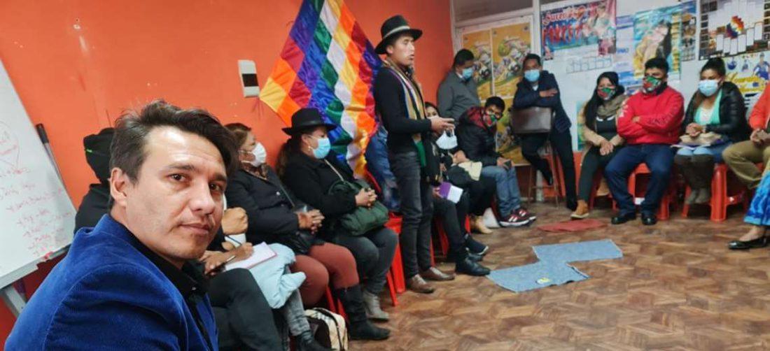El ex candidato del MAS en Santa Cruz hace lobby en Senkata (Foto: RRSS)