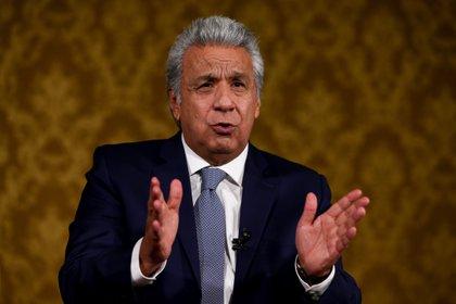 El presidente saliente de Ecuador, Lenín Moreno (EFE/José Jácome/Archivo)