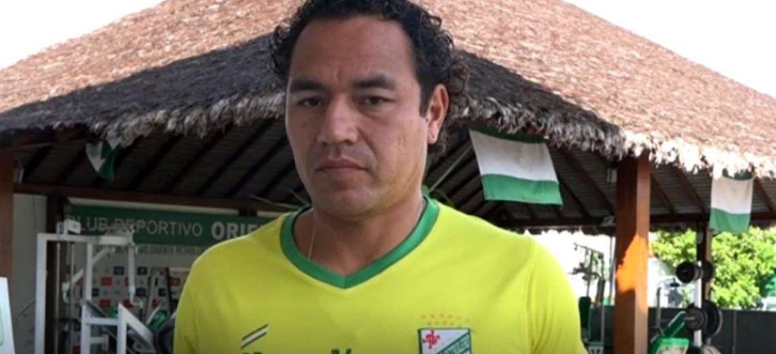 Gualberto Mojica, mediocampista de Oriente Petrolero. Foto: Captura de pantalla.