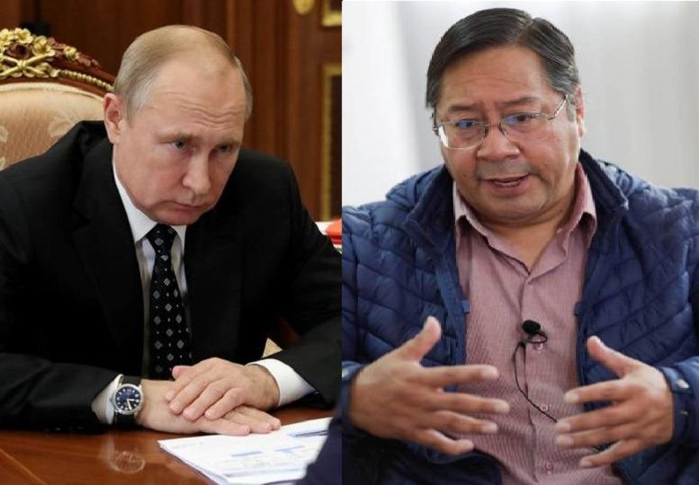 Presidente electo Luis Arce agradece felicitación de Vladimir Putin
