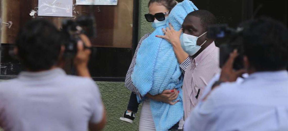 Foto Fuad Landívar: La mujer declaró hoy en la Fiscalía de Los Tusequis
