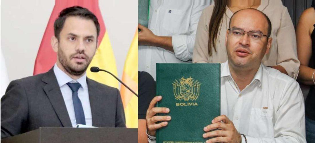 Del Castillo (izq.) criticó el viaje de los opositores