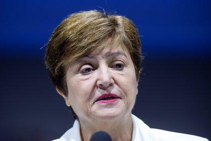 La directora gerente del Fondo Monetario Internacional (FMI), Kristalina Georgieva. EFE/EPA/ERIK S. LESSER/Archivo