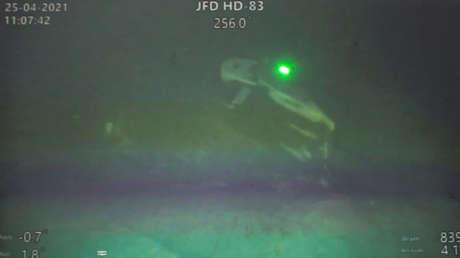 FOTOS: Muestran los restos del submarino hundido de la Armada indonesia, encontrados en el fondo del mar divididos en tres partes