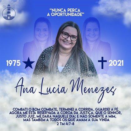 Ana Lucia Menezes llevaba varios días hospitalizada y tuvo que ser intervenida de emergencia (Foto: Instagram @analuciamenezesoficial)