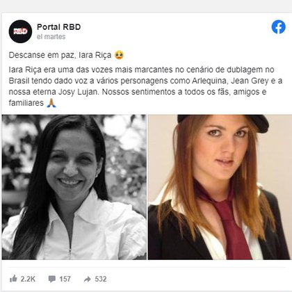 Iara Rica también prestó su voz para otros personajes de la cultura pop en portugués (Foto: Captura de pantalla)