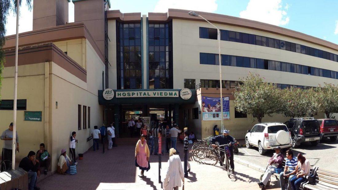 Imagen de archivo muestra el frontis del hospital Viedma en Cercado. ARCHIVO