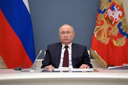 El presidente ruso, Vladímir Putin, en la Cumbre virtual de Líderes por el Clima. EFE/EPA/ALEXEI DRUZHININ