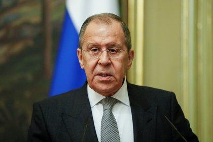 El jefe de la diplomacia rusa, Serguéi Lavrov. Foto Yuri Kochetkov/Pool via REUTERS