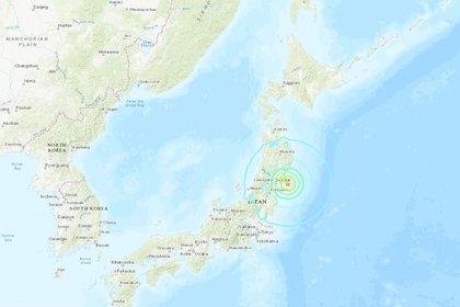 Mapa que muestra la ubicación específica donde se registró el sismo