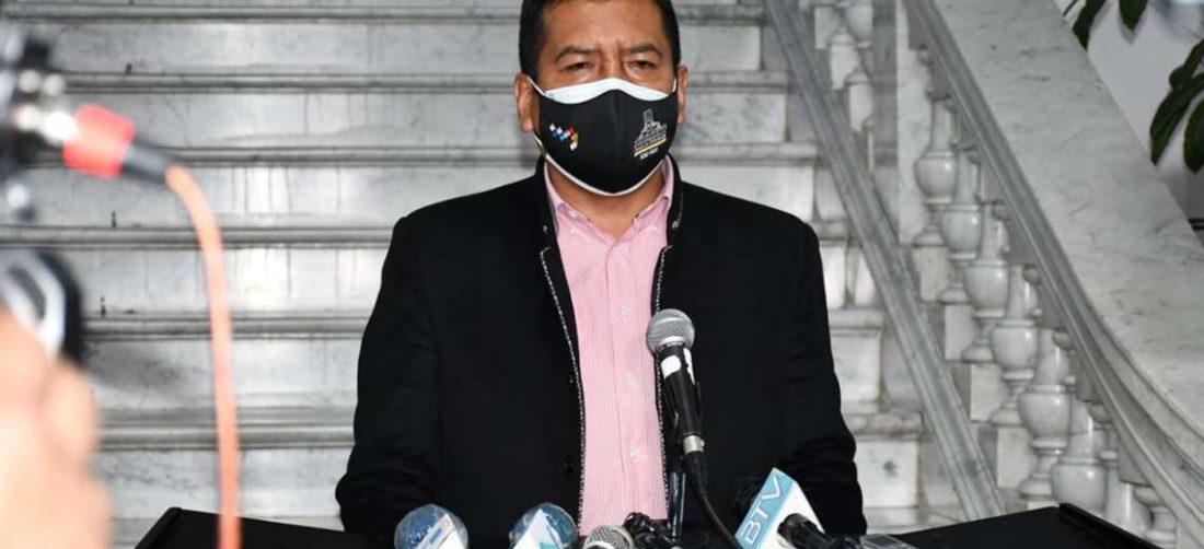 El presidente de Diputados, Freddy Mamani