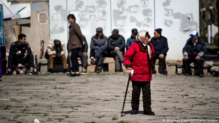 La población china envejece.