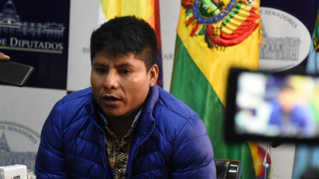 El senador por el Movimiento Al Socialismo (MAS) Leonardo Loza. DICO SOLÍS