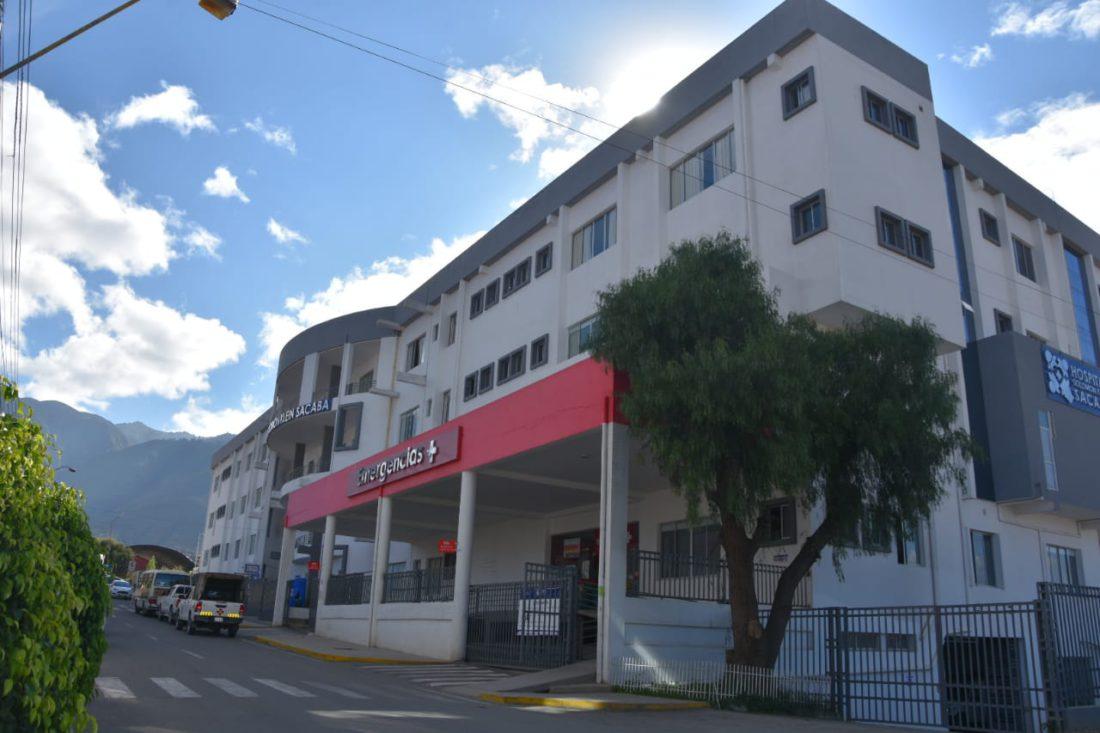 Frontis del hospital Solomon Klein, centro médico de referencia contra el COVID-19, en Cochabamba.