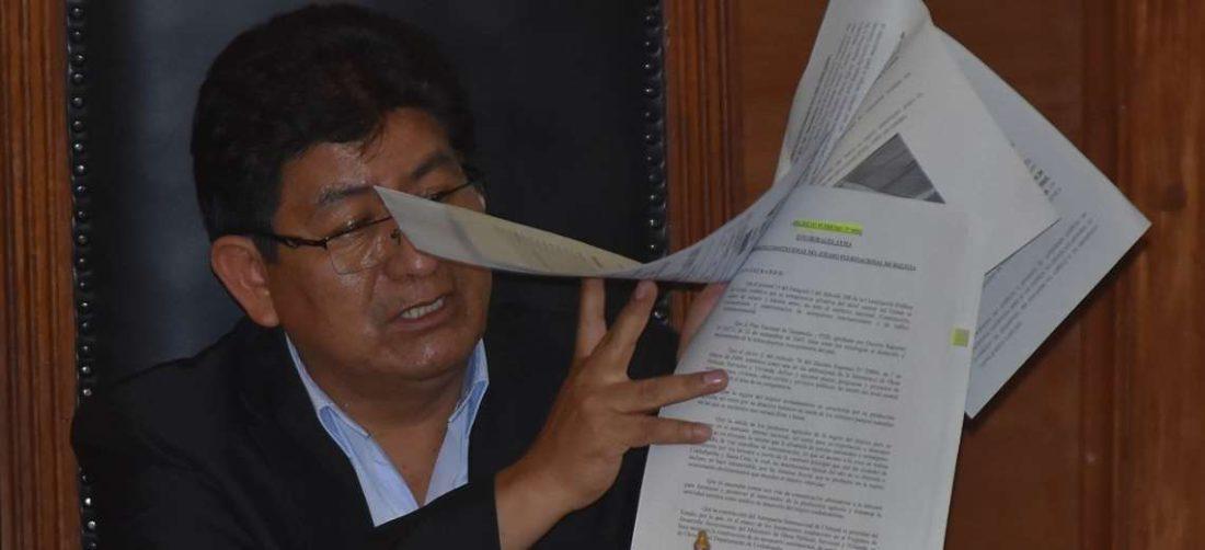 El ministro mostró informes de instituciones sobre Chimoré (Foto: APG Noticias)
