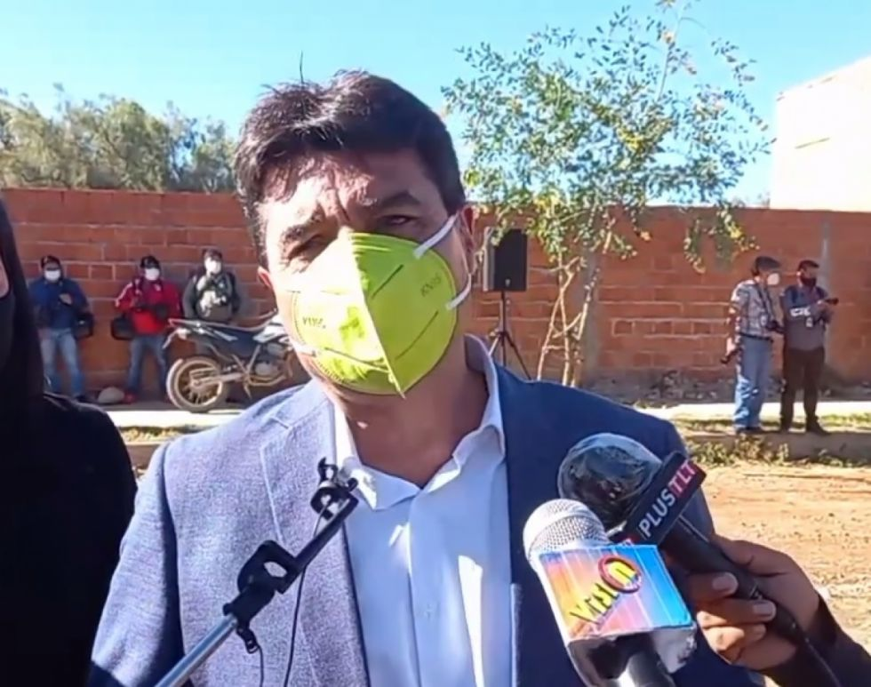 Alcalde Torres pone la piedra fundamental para la construcción de la Casa Judicial en Tarija