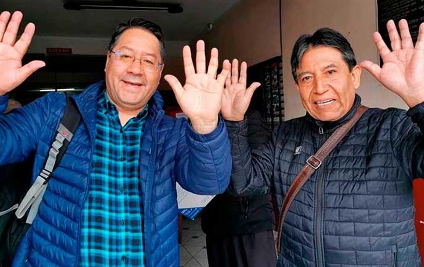 Luis Arce (izq.) y David Choquehuanca. Foto: Internet
