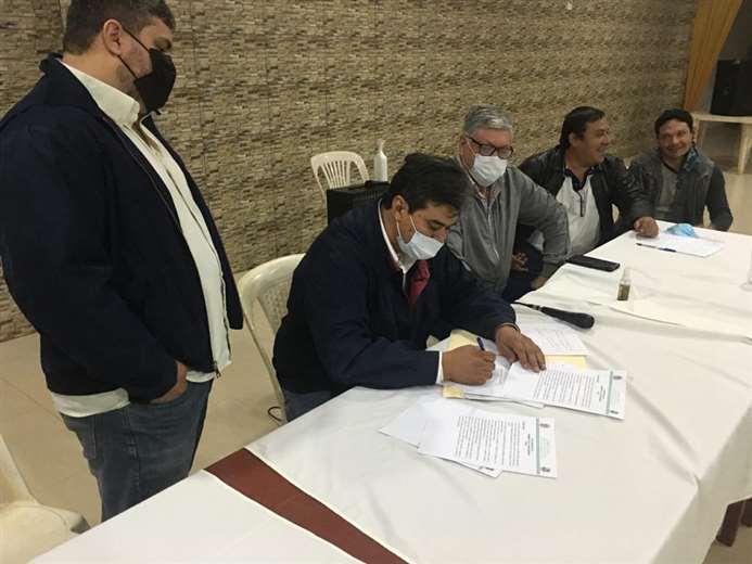 San Ignacio emite un voto resolutivo en defensa de la tierra. Foto: C. Quinquiví