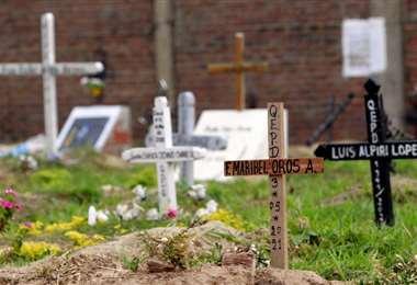 La situación de los cementerios Covid-19 preocupa a los opositores. Foto: EL DEBER