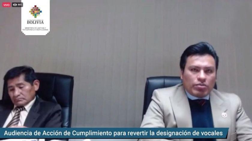 Sala Constitucional deja sin efecto designación de nuevos vocales en La Paz