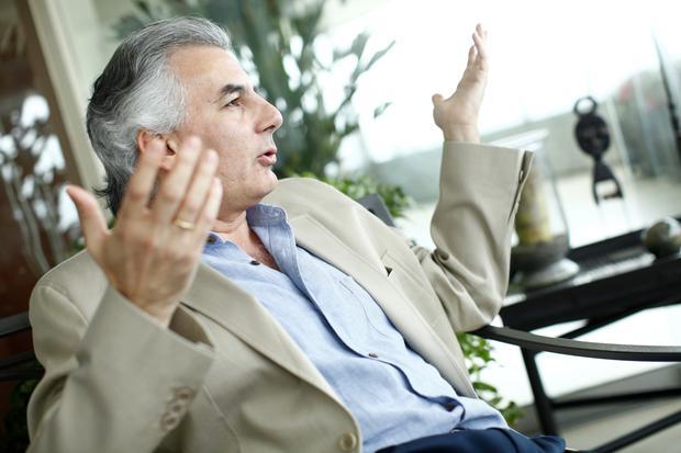 """""""Es absolutamente indebido lo que ha hecho el señor Morales (Luis Arce) y lo que ha hecho el señor (Alberto) Fernandez, es absolutamente indebido"""", dijo Vargas Llosa. (Foto: David Vexelman/GEC)"""