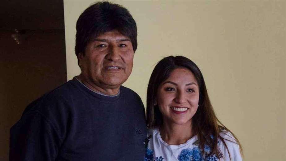 Evo Morales, junto con su hija/Foto: Redes