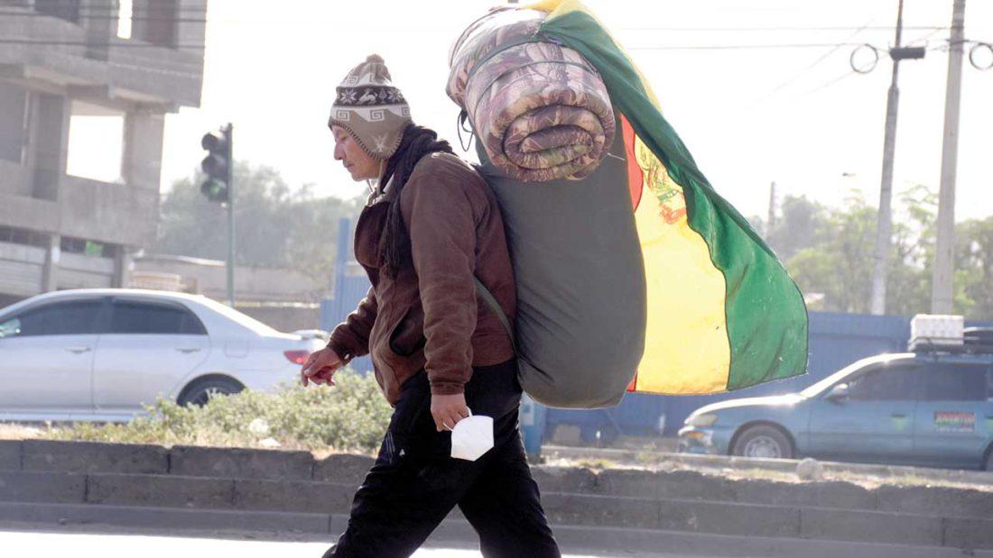 Gonzalo Melgar en la avenida Petrolera, Cochabamba. DICO SOLÍS