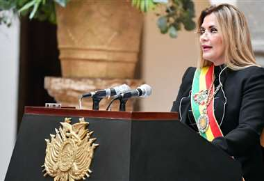 La expresidenta Jeanine Añez es investigada por la renuncia de Evo Morales. Foto: ABI