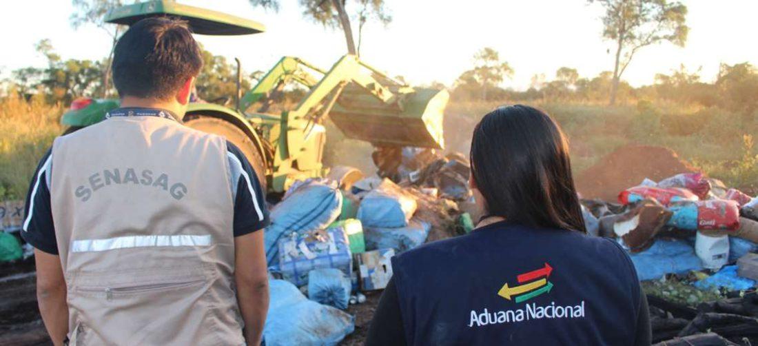 Los operativos buscan mermar los volúmenes del contrabando (Foto: Senasag)