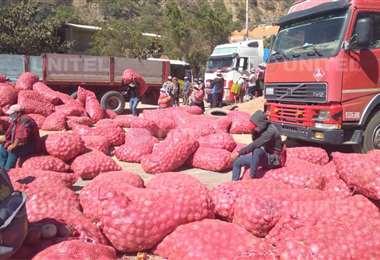 Los bloqueos se registran desde el lunes en Cochabamba (Foto: Marcelo Beltrán)
