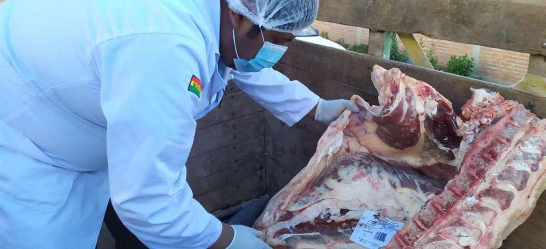Senasag revisó la carne bovina decomisada y no portaba documentación que respalde origen