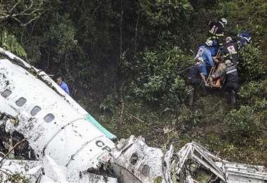 La tragedia aérea ocurrió en noviembre del 2016. Foto: AFP