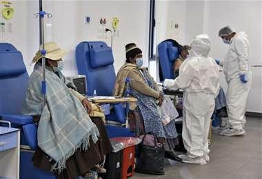Coronavirus en Bolivia. Foto: AFP