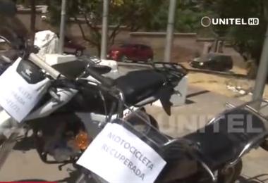 Diprove recuperó ocho motos reportadas como robadas en Cochabamba