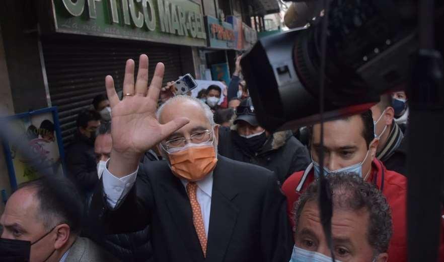 Carlos Mesa a su llegada a la Fiscalía