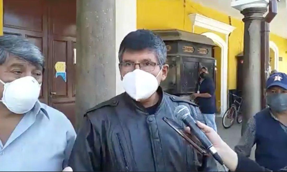 El ejecutivo del Transporte Federado, José Orellana. CAPTURA DE VIDEO