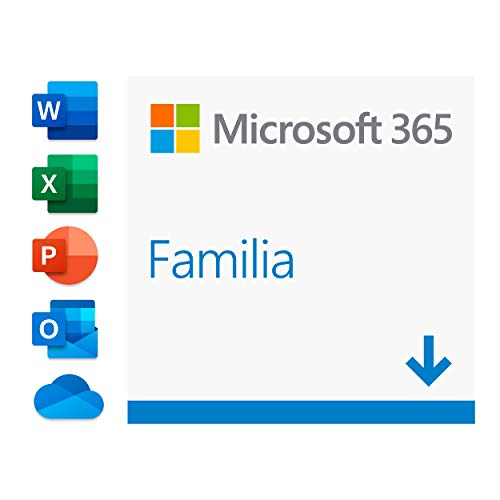 Microsoft 365 Familia Para 6 PCs/MACs/tabletas/teléfonos incluyendo iPad/Android/Windows Código de activación enviado por correo