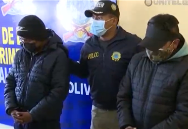 La Felcc presentó a los detenidos