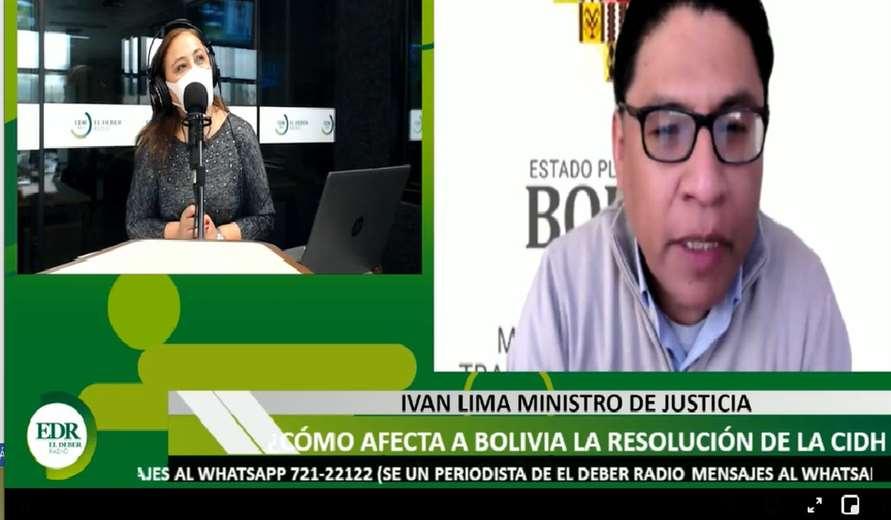 El ministro de Justicia Iván Lima estuvo en El Deber Radio este sábado.