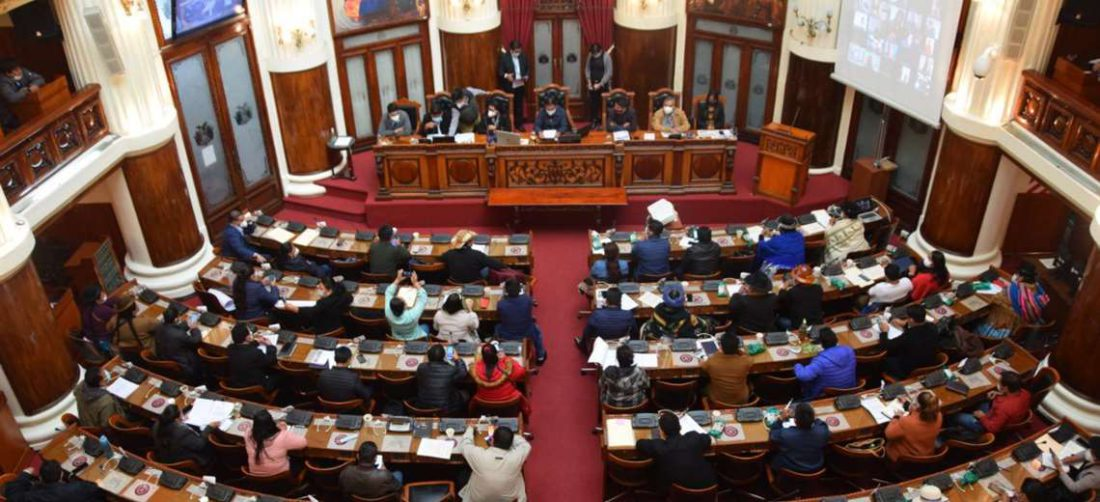 La sesión en el Legislativo I Senado.