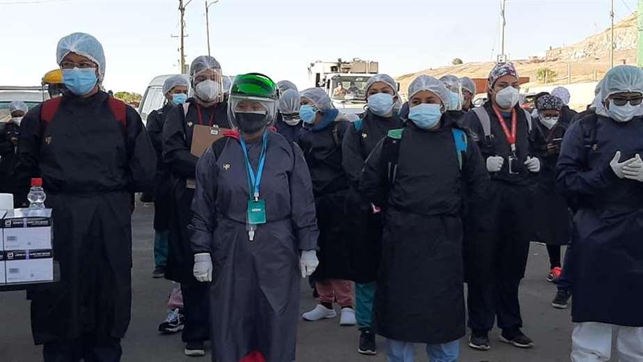 Brigadas médicas recorren varias zonas de la ciudad de Cochabamba
