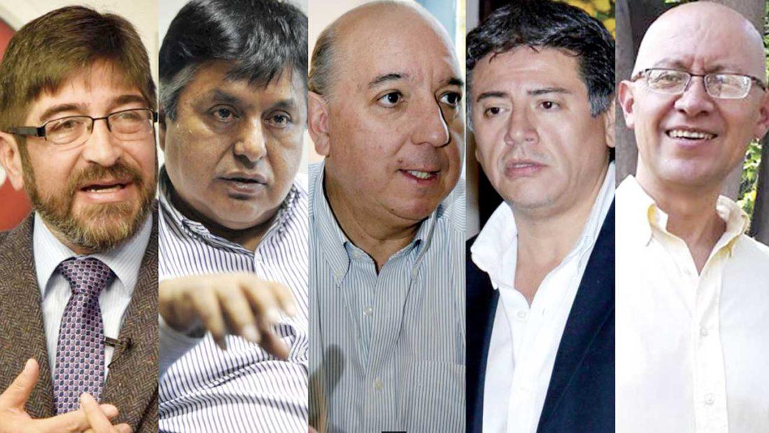 Ricardo Paz Ballivián, Luis Vásquez Villamor, José Antonio Quiroga, Jerjes Justiniano Atalá y Roberto Moscoso. ABI