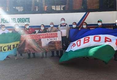 Desde Roboré y varios municipios acudieron a la Cumbre por la Tierra. Foto: Roboré News