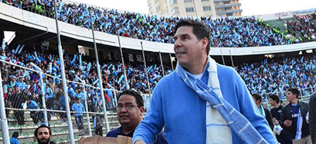 Marcelo Claure, presidente de Bolívar, en un partido en el Siles. Foto: El Deber