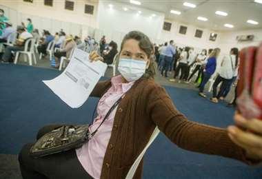 Los últimos días hubo un gran afluencia de personas en busca de sus vacunas