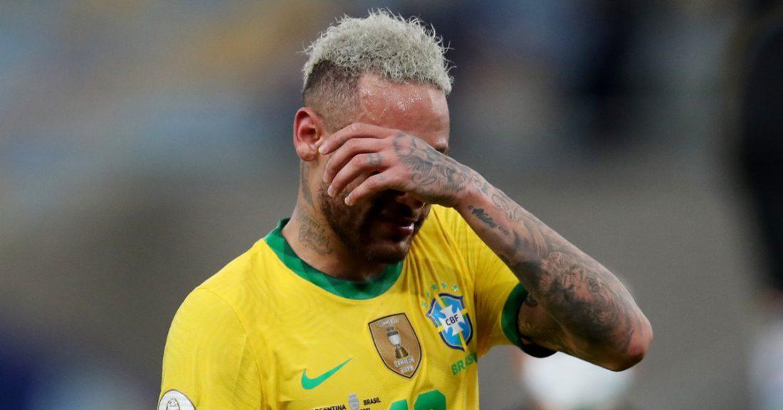 El desconsolado llanto de Neymar tras perder la final de la Copa América contra Argentina - Infobae